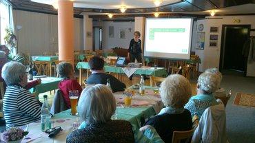 Foto vom Treffen der ver.di Senioren Bayreuth mit Ernährungsvortrag am 7.4.2016