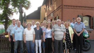 Ehrung der Jubilare des ver.di Ortsvereins Kulmbach am 22.7.2016