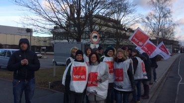 Warnstreik der Beschäftigten des Nordbayerischen Kuriers, des RNT Ring Nordbayerischer Tageszeitungen GmbH und der TMT Media GmbH & Co. KG