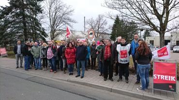 Bild vom Warnstreik beim Nordbayerischen Kurier in Bayreuth
