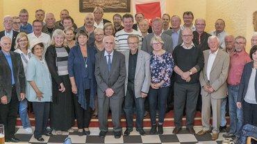 Foto von der Jubilarehrung des ver.di Ortsvereins Bayreuth am 29.9.17