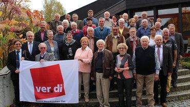 Foto von der Jubilarehrung des ver.di Ortsvereins Hof am 6.10.2017